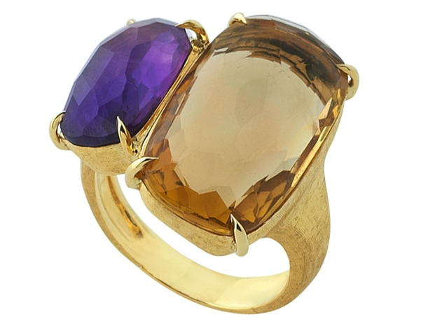 18ky 2 semi precious stones ring er sawyer for Precious stone wedding rings