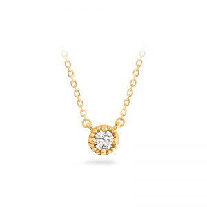 HOF Liliana Milgrain Single Diamond Pendant