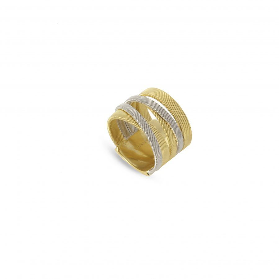 Yellow Gold & WHite Gold 5 Strand Ring